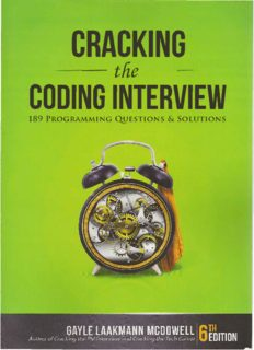 CRACKING the · CODING INTERVIEW