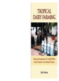 Tropical dairy farming: feeding management for small holder dairy farmers in the humid tropics