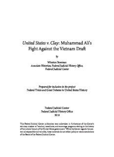 United States v. Clay: Muhammad Ali's Fight Against the Vietnam Draft