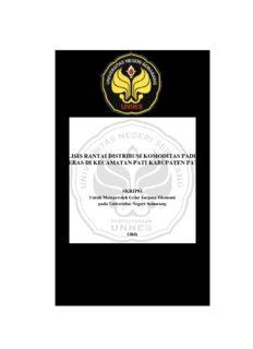 analisis rantai distribusi komoditas padi dan beras di kecamatan pati kabupaten pati jurusan ...