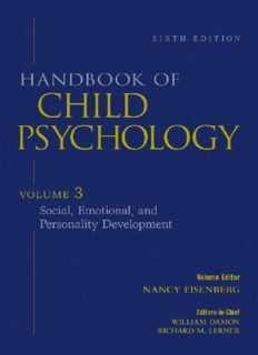 Handbook of Child Psychology, Vol. 3_ Social, Emotional, and Personality Development, 6th Edition