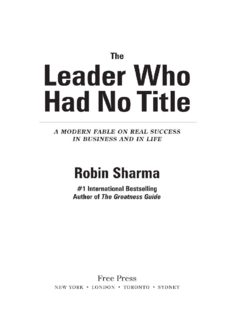 The Leader Who Had No Title
