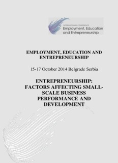 ENTREPRENEURSHIP: FACTORS AFFECTING SMALL-SCALE BUSINESS