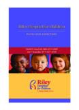 Riley Hospital for Children Riley Hospital for Children