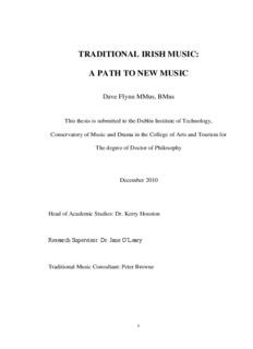 Traditional Irish Music : a path to new music