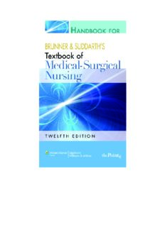 381-Handbook for Brunner and Suddarth's Textbook of Medical-Surgical Nursing, 12th Edition-Suzann