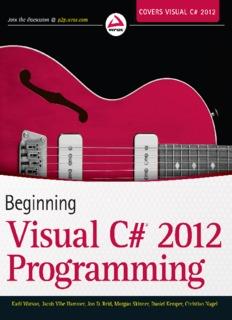 Beginning Visual C#® 2012 Programming