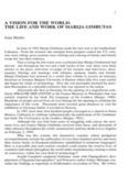 The Life and Work of Marija Gimbutas, 1-20