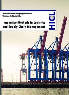 Innovative Methods in Logistics and Supply Chain Management