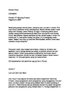 Andrea Hirata EDENSOR Penerbit PT Bentang Pustaka Yogyakarta, 2007 Novel yang sangat ...
