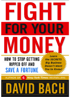 Fight For Your Money: How to Stop Getting Ripped Off and Save a Fortune