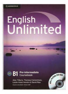 English Unlimited. Pre-Intermediate B1. Student's book