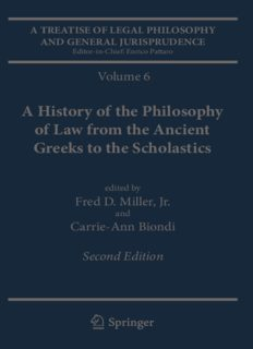 A Treatise of Legal Philosophy and General Jurisprudence: Volume 6: A History of the Philosophy of Law from the Ancient Greeks to the Scholastics