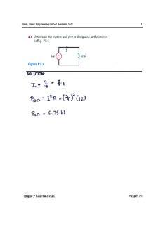 Irwin, Basic Engineering Circuit Analysis, 10/E 1