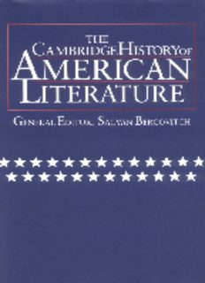 Cambridge History of American Literature, Vol. 3: Prose Writing, 1860-1920 (The Cambridge History of American Literature)