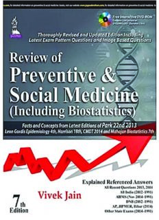 Review of Preventive and Social Medicine (including Biostatistics) (7th Ed.) – Jaypee Brothers Medical