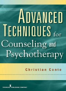 Advanced Techniques for Counseling and Psychotherapy