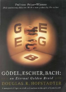 Gödel, Escher, Bach: An Eternal Golden Braid (Twentieth-Anniversary Edition)