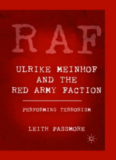 Ulrike Meinhof and the Red Army Faction: Performing Terrorism