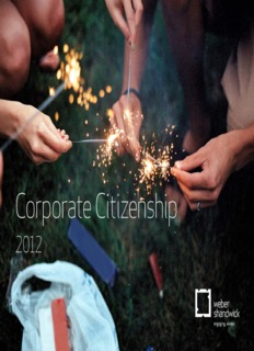 Corporate Citizenship Report - Weber Shandwick
