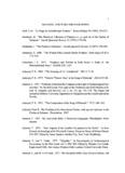 McDaniel & Ward Bibliography - Dr. Tom McDaniel