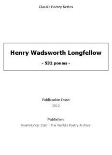 Henry Wadsworth Longfellow - poems - - PoemHunter.Com
