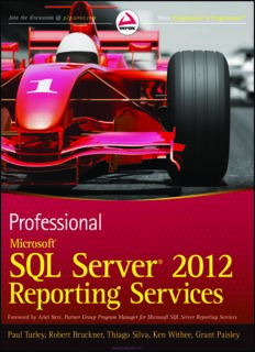 PROFESSIONAL Microsoft® SQL Server® 2012 Reporting Services