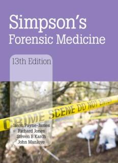Simpson's Forensic Medicine