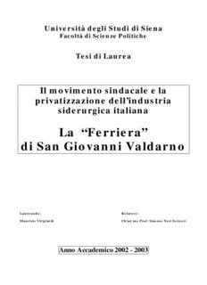 """La """"Ferriera"""" di San Giovanni Valdarno - Cgil Toscana"""