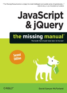 JavaScript & jQuery: The Missing Manual, Second Edition