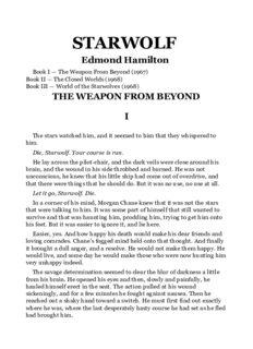 Edmond Hamilton - Starwolf Omnibus