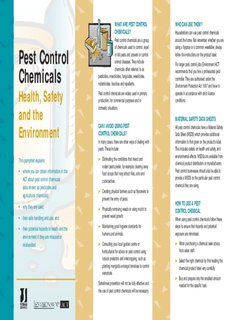 Pest Control Chemicals - Health, Safety and the Environment