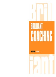 Brilliant Coaching 3e: How to be a brilliant coach in your workplace