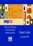 Restaurant Manager Training Program Delivering Excellence