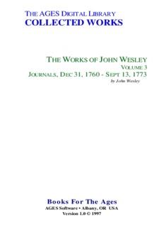 Wesley - The Works of John Wesley