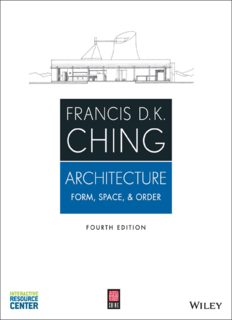 Architecture  Form, Space, and Order (4th edition)