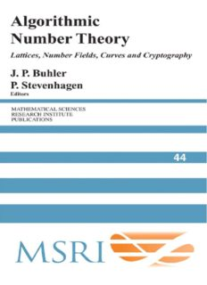 Algorithmic number theory: lattices, number fields, curves and cryptography