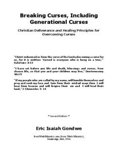 Breaking Curses, Including Generational Curses