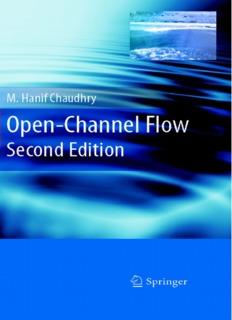 Open Channel Flow-Chaudhry - Dr. Manouchehr Heidarpour