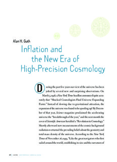 Alan H. Guth Inflation and the New Era of High-Precision Cosmology