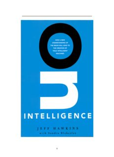 On Intelligence Jeff Hawkins with Sandra Blakeslee