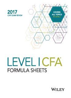 Wiley CFA Level I Formula Sheets