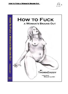 HOW TO FUCK A WOMAN'S BRAINS OUT