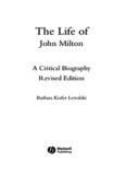 The Life of John Milton: A Critical Biography