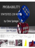 Notes(pdf) - the Department of Statistics and Actuarial Science
