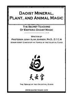 Daoist Mineral, Plant and Animal Magic: The Secret Teaching of Esoteric Daoist Magic