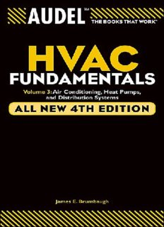 HVAC Fundamentals. Volume 3: Air Conditioning, Heat Pumps and Distribution Systems