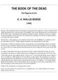 E.A. Wallis Budge – Egyptian Book Of The Dead