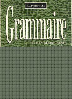 Grammaire: cours de civilisation francaise de la Sorbonne : 350 exercices-niveau superieur, Volume 2