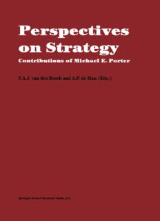 Perspectives on Strategy: Contributions of Michael E. Porter